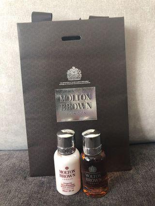 Body lotion and bath shower gel