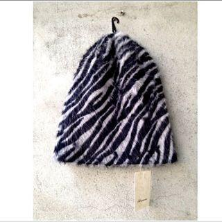 NET 斑馬紋 毛帽