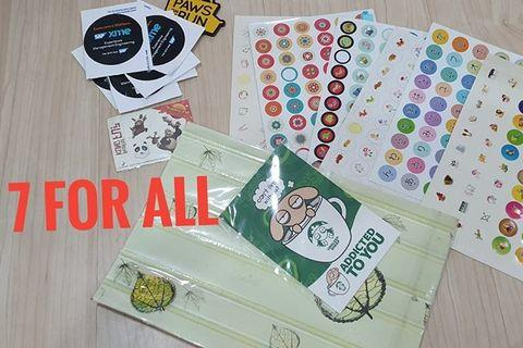 Random stickers and cards Rm7