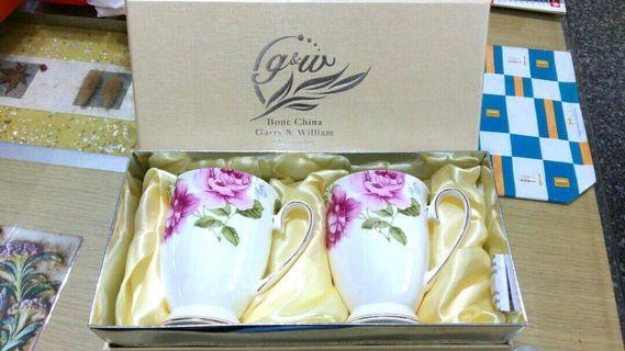 韓國製 Garry&William 秘密花園浪漫杯x2 骨瓷