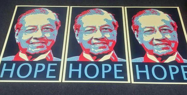 TUN MAHATHIR|HOPE|POSTER