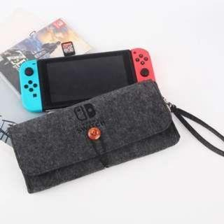 ★CHEAPEST★ Nintendo Switch Slim GREY VELVET Case Protective Travel Carrying Case Clutch Pouch Cover Console and Accessories