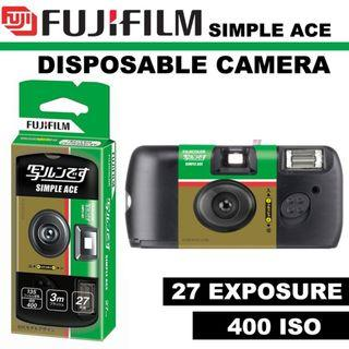 ★CHEAPEST★ FUJIFILM 35mm Disposable Single Use Camera Simple Ace - ISO 400 - 27 Exposure