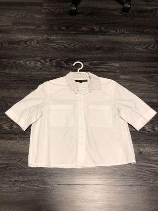 French Connection / FCUK Cropped Shirt (White)