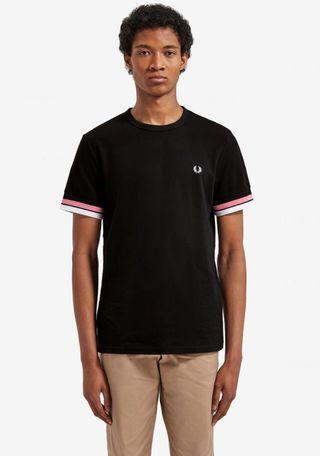 REDUCED! Bold Tipped Fred Perry T Shirt