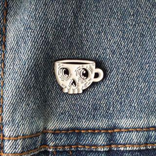Enamel Pin - A Cup of Death