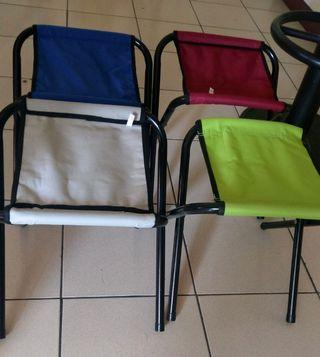 摺疊露營椅凳 2個共$100(紅色和藍色)