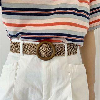 Woven Khaki Brown Belt