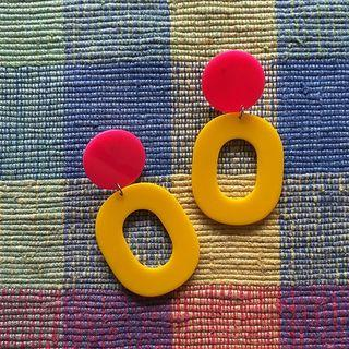 Earrings - Summer Series - Raspberry & Pineapple