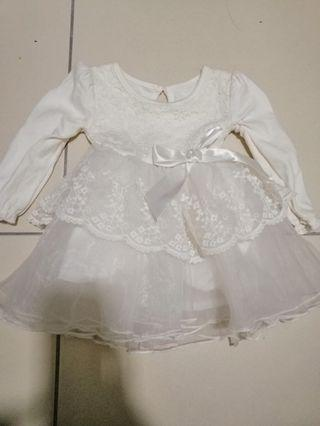 Baby Girl White Lace Dress