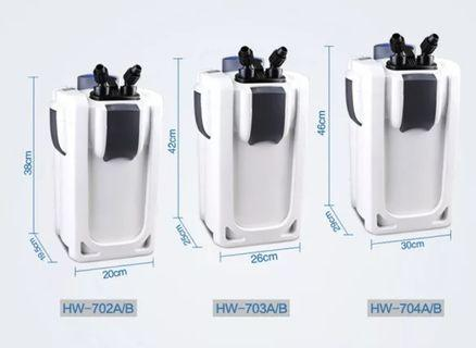 Hw702B-$85 only!!!   Sunsun canister filter with UV light filter that purify water for fish tank !!! Brand New !!!Ideal for tank with algae issue !!! Filter for fish tank or fish aquarium. Ideal for 2ft to 3ft tank !!!