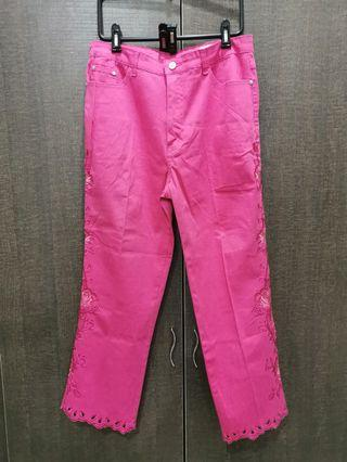 Pink stretchable pant