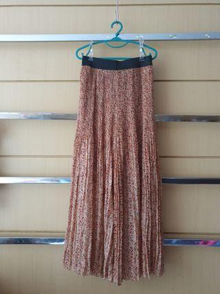 TEMT Sheer Pleated Floral Summer Long Culotte Pants