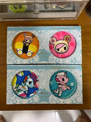 Tokidoki Collectible Coaster Set - 4 pieces bundle