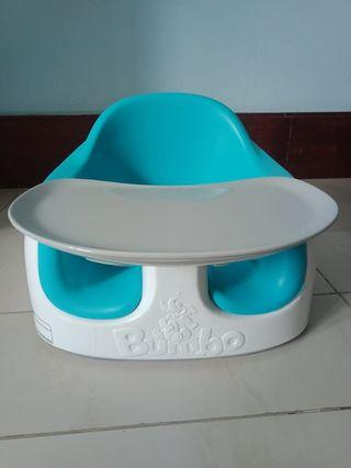 Booster Seat Bumbo Baby Chair - Blue (Bonus Mainan)
