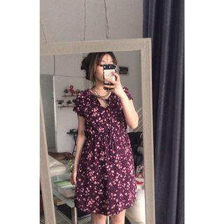 H&M Florall Dress / NETT / Bersihin Lemari ✨😂