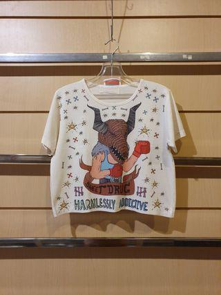 SWEETDRUG Digital Print Crop Tee Tshirt