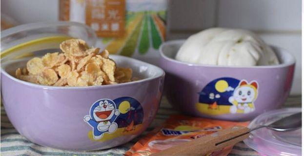 哆啦A夢 陶瓷方碗(紫色)