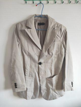 西裝外套/灰白