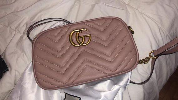Gucci Small GG Marmont Matelassé Shoulder Bag