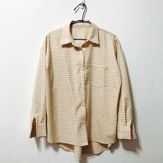 Meier 黃格子襯衫