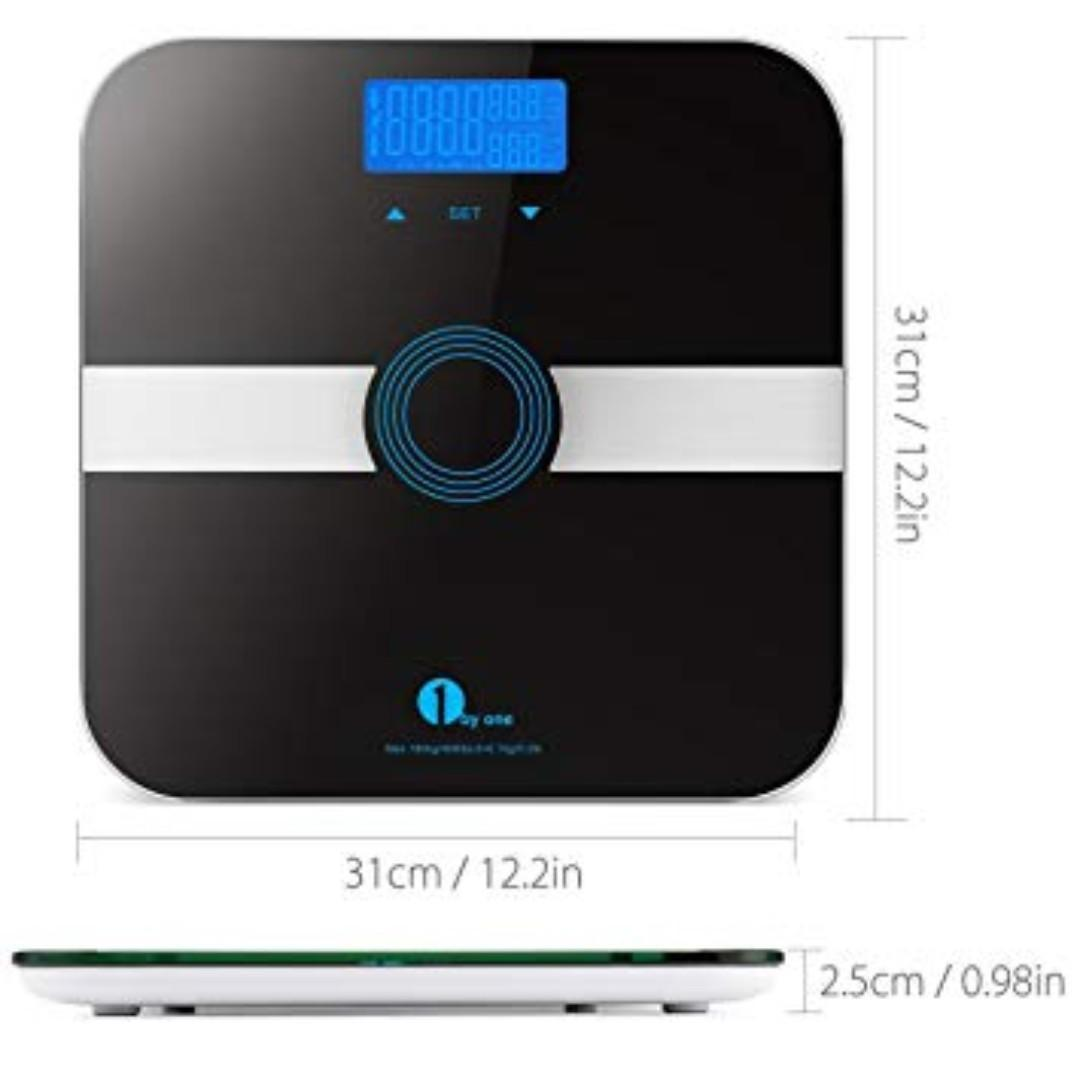 1 by one Body Fat Scale with Tempered Glass