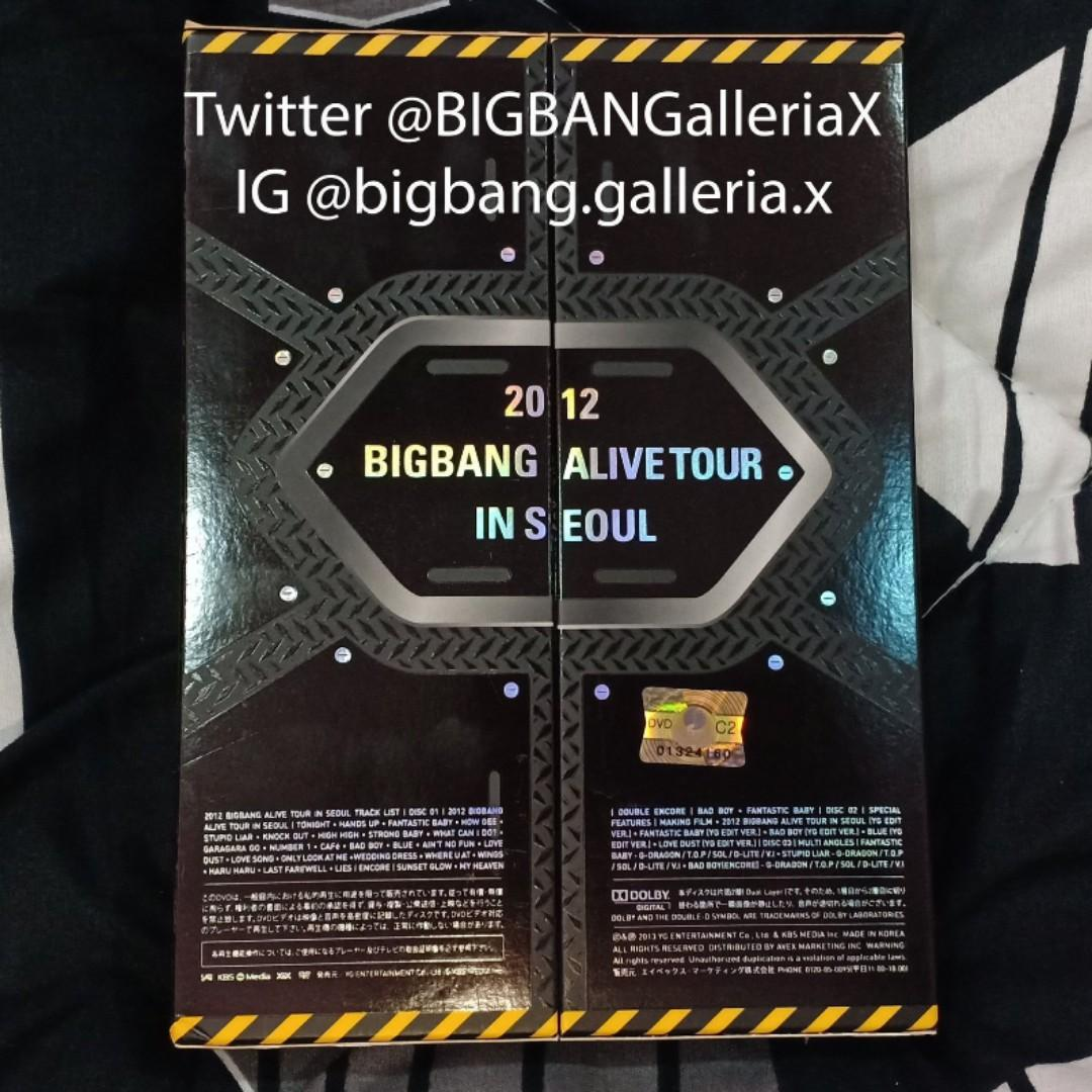 2012 BIGBANG ALIVE TOUR IN SEOUL [First Press Limited Edition] (3DVD+PHOTOBOOK)(Japan Version)