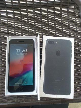 iPhone 7 plus 32gb Black Fullset FU Mulus