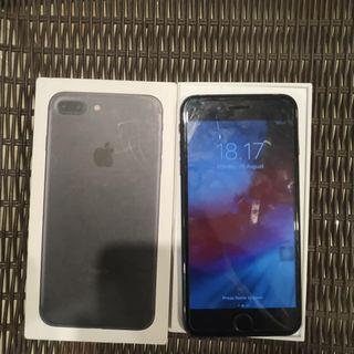 iPhone 7 Plus 32gb Blacl Fullset BU