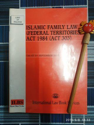 Islamic family law (federal territories) act