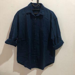 Zara oversize navy shirt