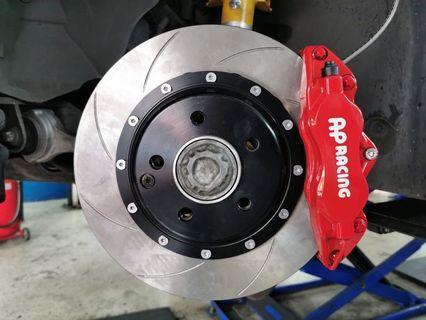 AP racing brake calipers