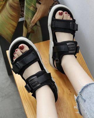 Korean Style Strapped Flat Shoes