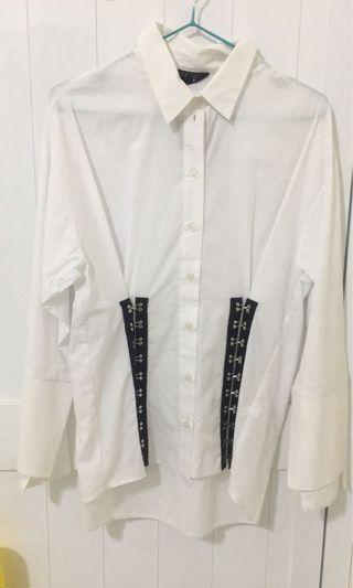 Top shop 顯瘦白色襯衫