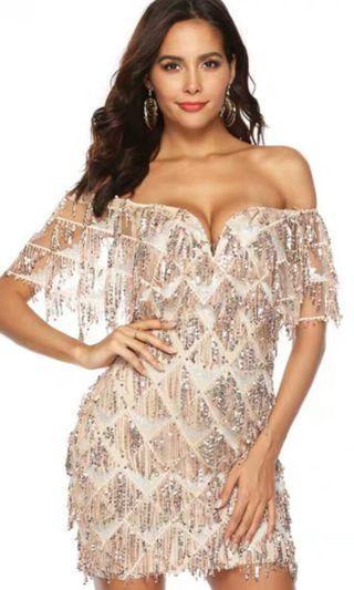 Off Shoulder Bling Dress