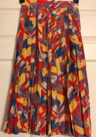 Silk Multicoloured Skirt (Size Small)