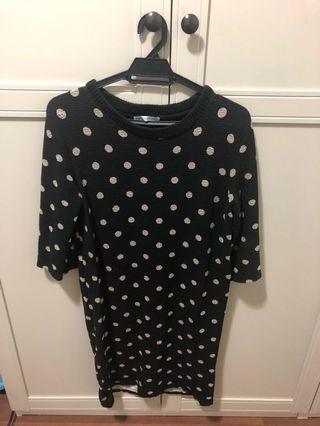 Polkadot tshirt dress