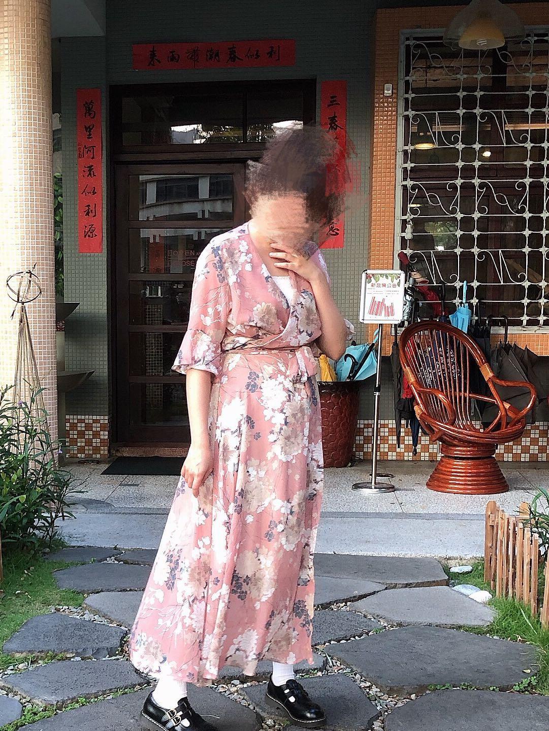 正韓 chingood 購入 透膚輕薄洋裝/罩衫 兩穿