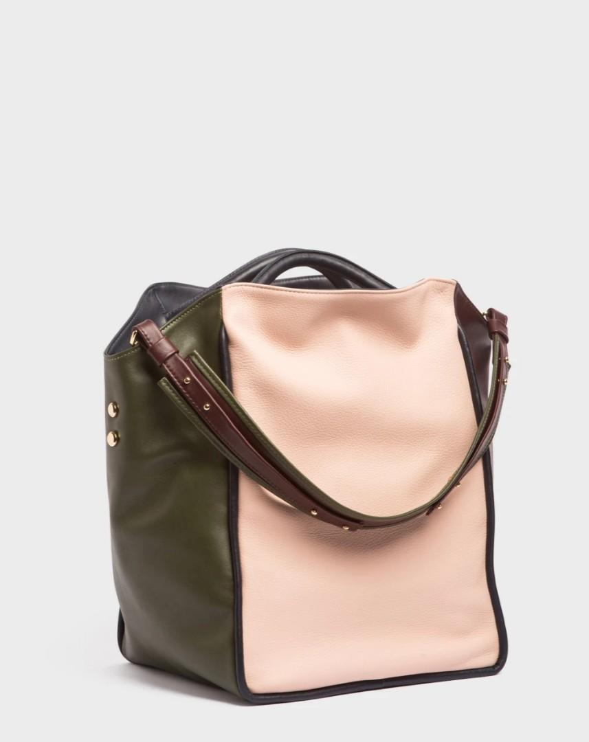 A-esque Rosella four tone basket bag