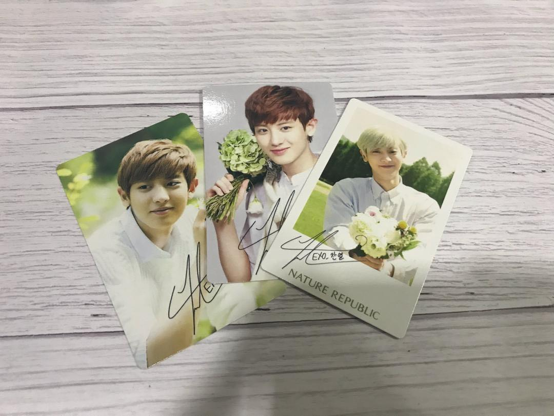 [All] EXO CHANYEOL NATURE REPUBLIC OFFICIAL PHOTOCARD VER 1,2,3