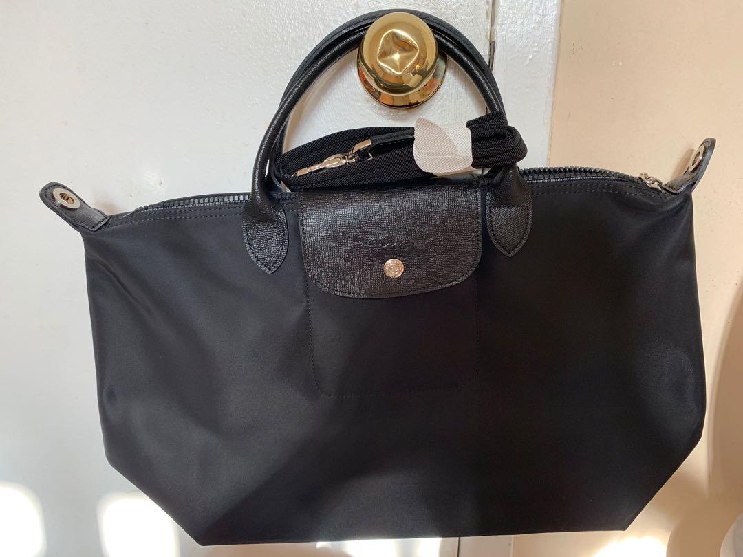 Authentic! Longchamp Neo medium black crossbody/ tote bag