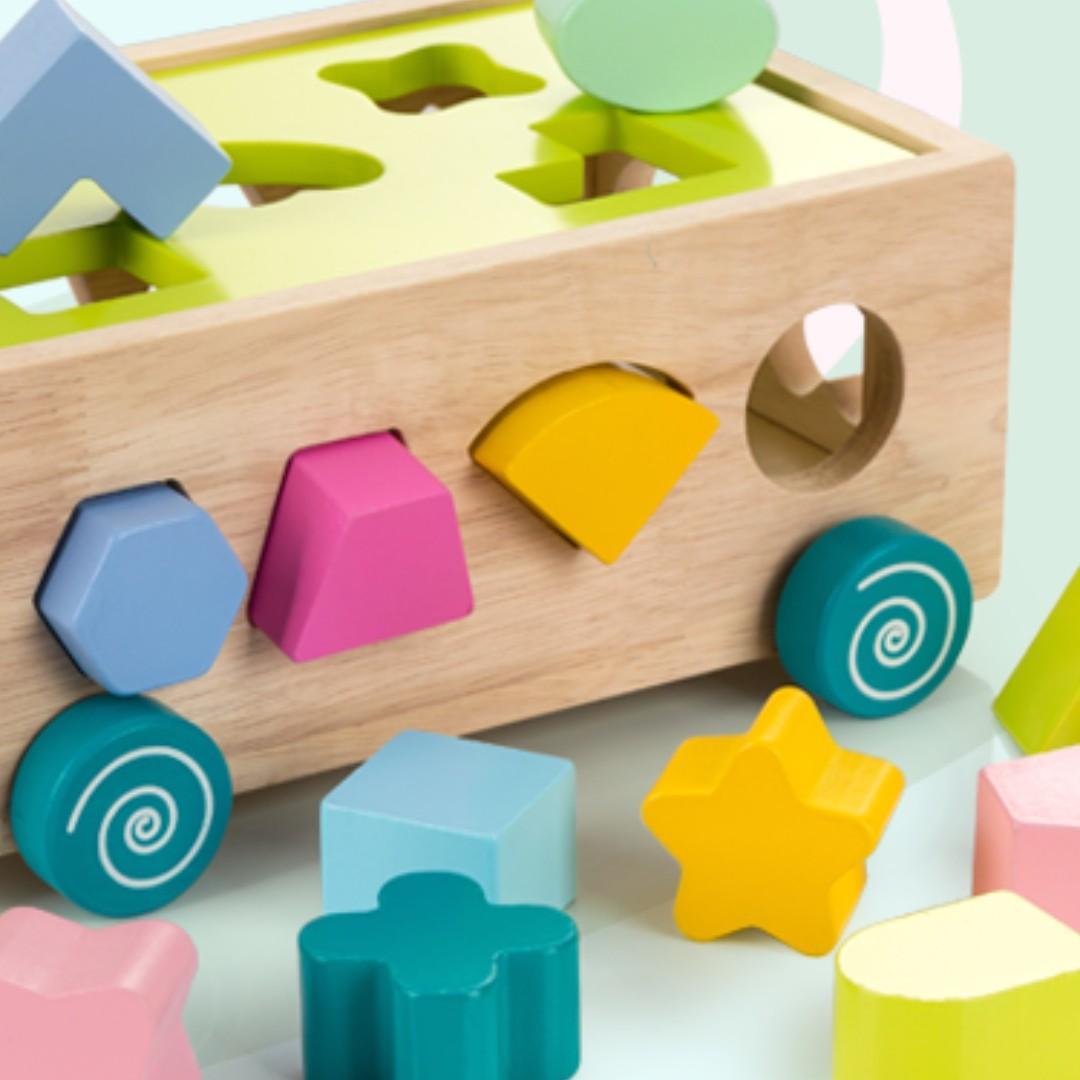[BACK BY DEMAND] Babies Wooden Building Blocks Set