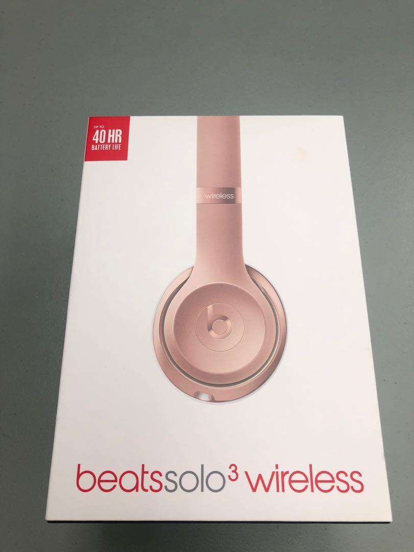 Beats Solo3 Wireless On Ear Headphones (Rose Gold)