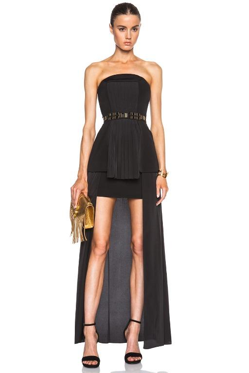 BNWOT SASS AND BIDE BLACK SEE THEN NOW GOWN - SIZE 8 AU /4 US (RRP $1200)