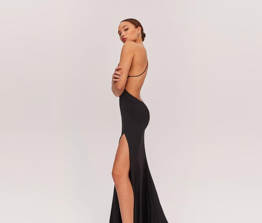 BNWT FAME & PARTNERS BLACK NIKITA FORMAL DRESS - SIZE 8 AU(RRP $289)