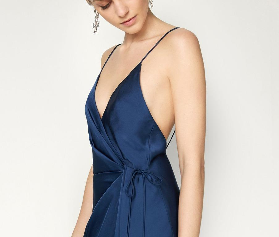 BNWT FAME & PARTNERS NAVY THE AURIGA GOWN - SIZE 10 AU/6 US (RRP $335)