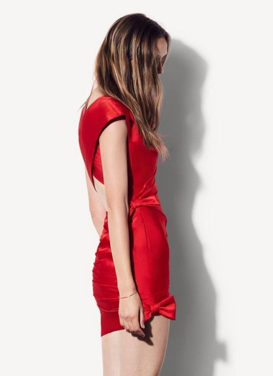 BNWT FAME & PARTNERS RED LINDA DRESS - SIZE 8 AU/4 US (RRP $299)