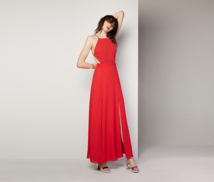 BNWT FAME & PARTNERS RED THE ADA DRESS - SIZE 12 AU (RRP $289)