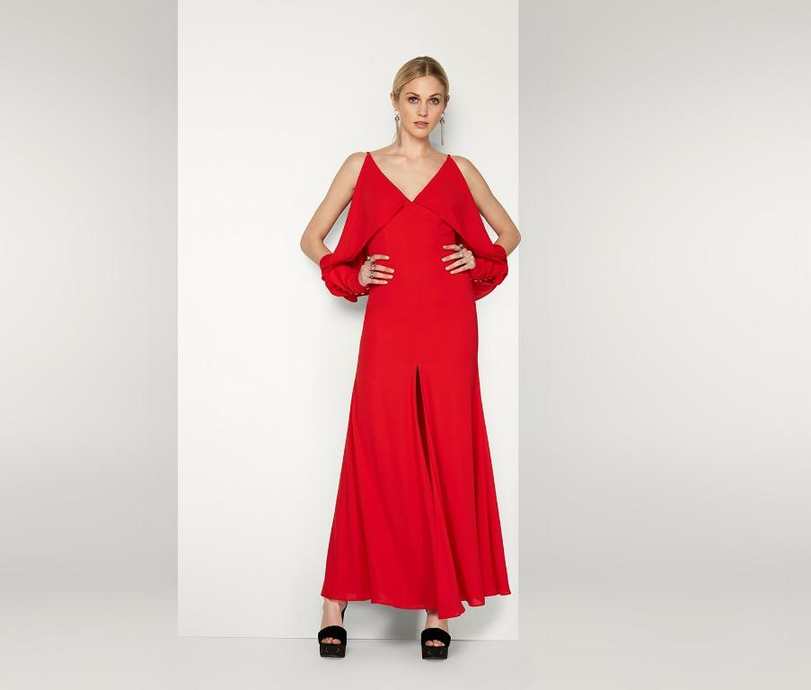 BNWT FAME & PARTNERS RED THE SATURN DRESS - SIZE 8 AU (RRP $249