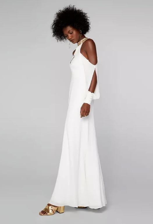 BNWT FAME & PARTNERS WHITE SWEET DISPOSITION - SIZE 8 AU/4 US (RRP $499)